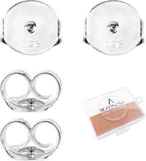 Best large silver earring backs Reviews