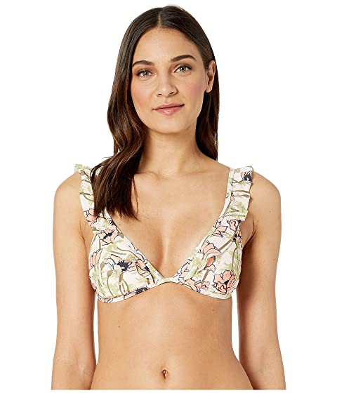 Tory Burch Swimwear Printed Ruffle Top