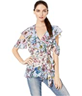 SW Wildflower Print Mix Wrap Top