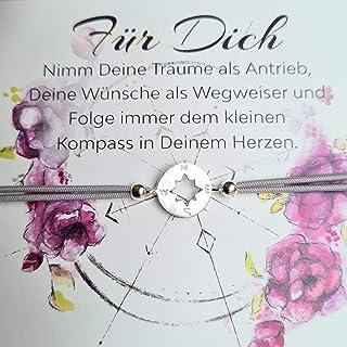 Kompass Armband 925 silber Geschenknachricht