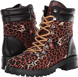 Black/Leopard Mixed Material