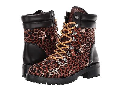 COACH Lorren Bootie (Black/Leopard Mixed Material) Women