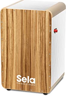 Sela SE 026 15mm Wave Professional Snare Cajon with On/Off Mechanism - White Zebrano