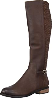 Cole Haan Women's Isabell Stretch Boot Mid Calf, Dark Ch Chestnut Leather, 7.5 B US