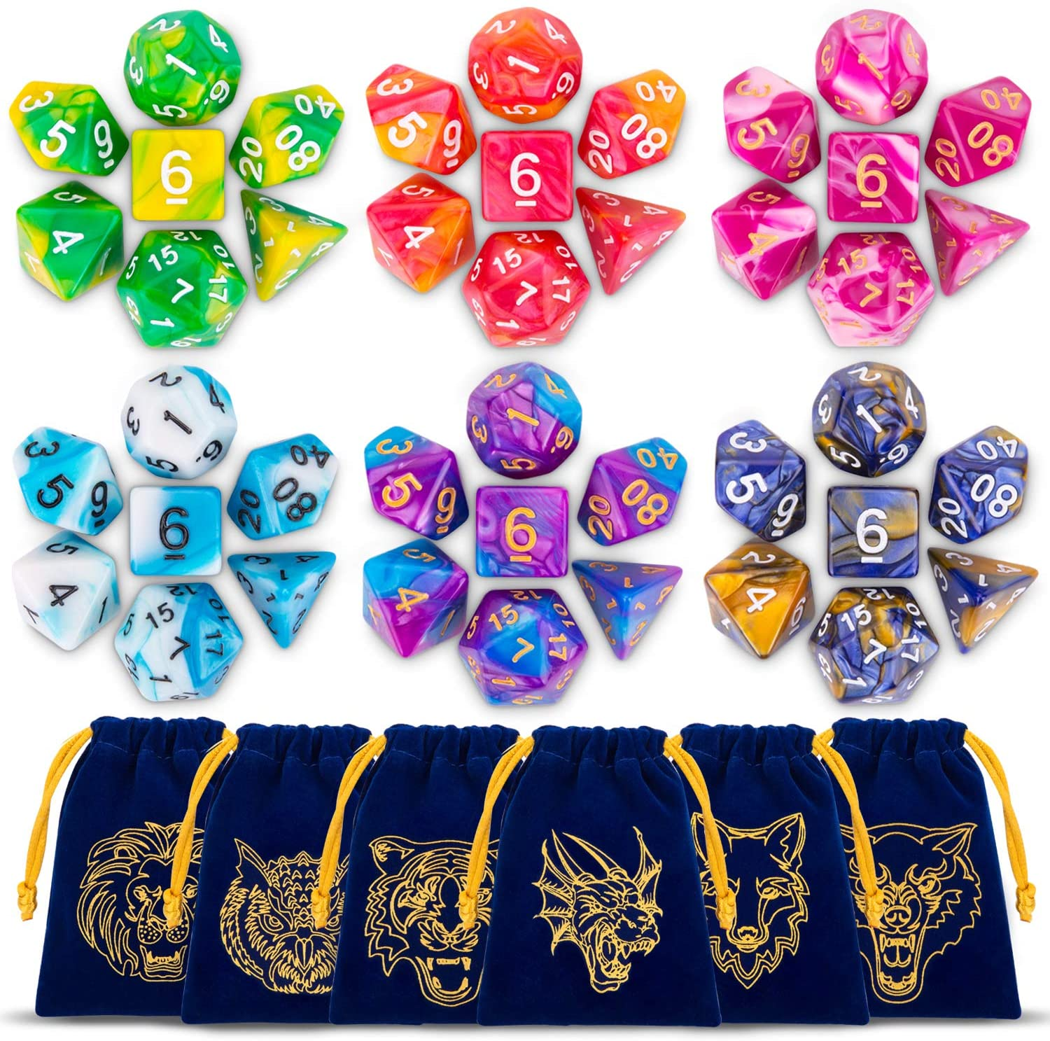 ESANDA DND Dice Set Popular standard 42pcs Polyhedral Dungeons and New Orleans Mall for