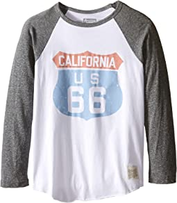 The Original Retro Brand Kids - Cali 66 Long Sleeve Baseball Cali 66 Raglan (Big Kids)