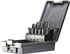 YUFUTOL Carbide Burrs Set 10pcs Double Cut Solid Carbide Rotary Burr Set 1/4 Inch Shank..