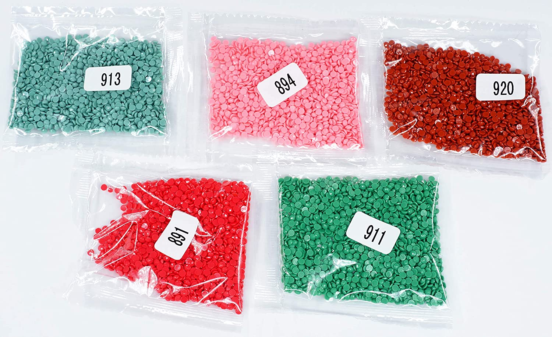 KOTART Diamond Painting Round Diamonds 5 Colour Set Replacement Rhinestones 891 894 911 913 920