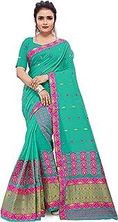 SKiran's Assamese Weaving Cotton Mekhela Chador Saree - Dn 7162 Mekhla Sador (Seagreen)