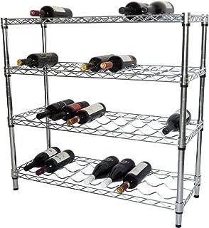 Trinity EcoStorage 4-Tier NSF Wine Rack, Chrome