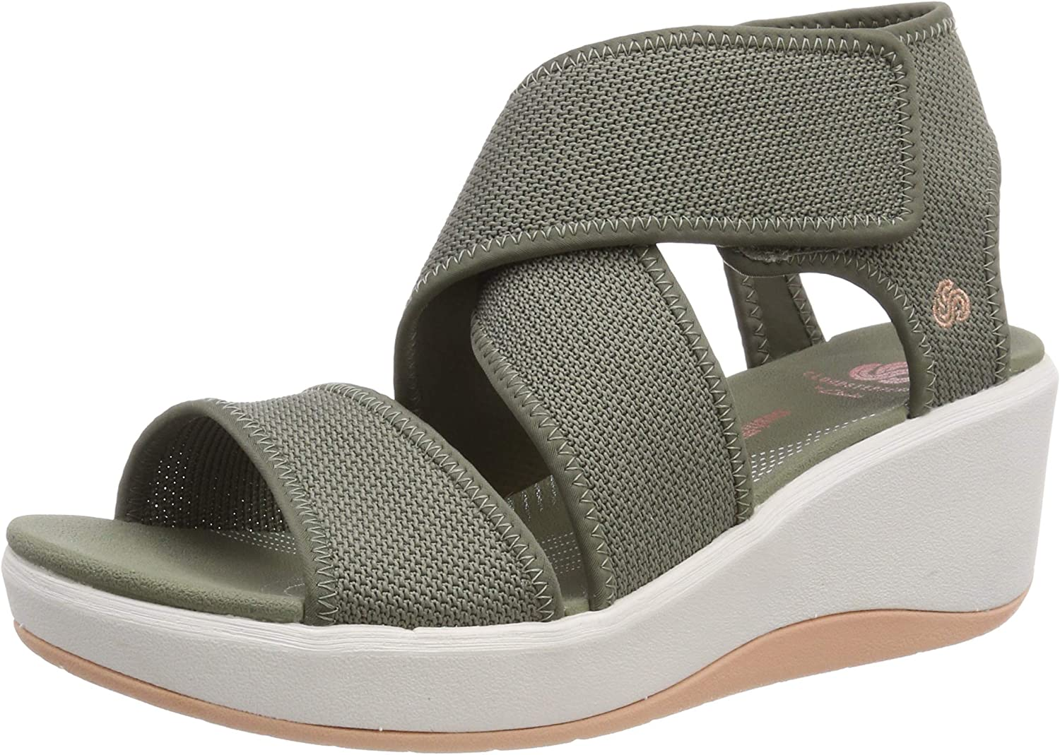 Clarks Women's Step Cali Palm Low-Top Sneakers Green (Olive -) 2 UK