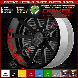 Ducati Diavel, Sticker für Rollen, Teil Speicher, liniert, für Felgen, Aufkleber, cód. 0218 031 Rot