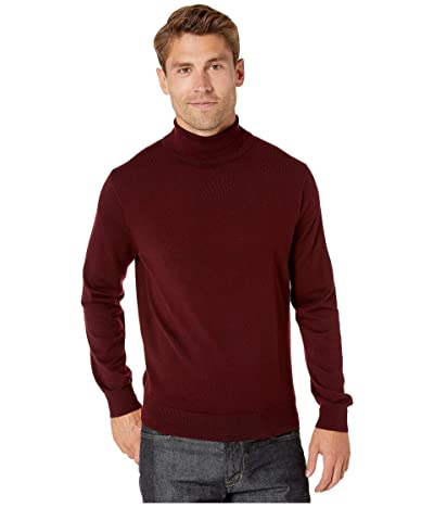 J.Crew Xinao Merino Turtleneck Sweater (Dark Burgundy) Men
