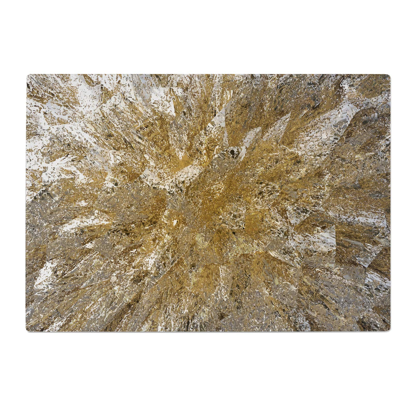 Gold White Brown Marble Glass Chopping Board Kitchen Worktop Saver Protector