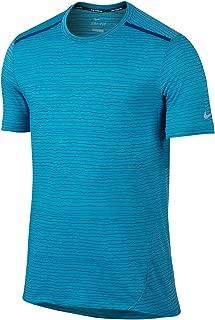 Nike Men's Cool Tailwind Stripe Running Dry-Fit T-Shirt Large Blue