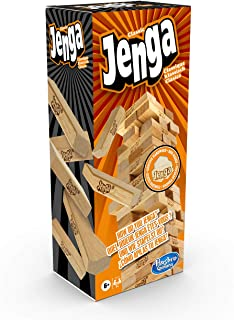Hasbro Gaming Jenga Classic, children's game that promotes the speed of reaction, from 6+ years