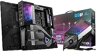 MSI MEG Z590 GODLIKE Gaming Motherboard E-ATX - Supports Intel Core 11th Gen Processors, LGA 1200 - OLED, RGB, 20 Phase 90...
