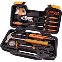 Cartman 39-Piece Household Hand Tool Kit with Plastic Toolbox Storage Case