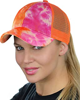 ab9caaa1e5126 C.C Ponycap Messy High Bun Ponytail Adjustable Mesh Trucker Baseball Cap Hat