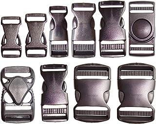 DaysAgo 2 Pz 1Sostituzione della Cinghia Fibbia a sgancio rapido in plastica Nera