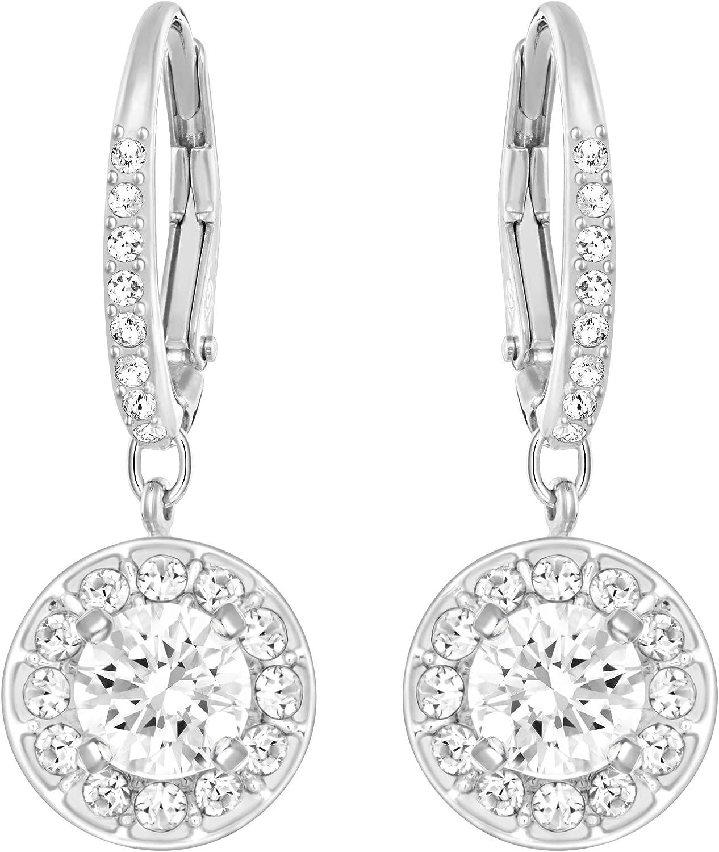 Swarovski Women's Angelic Crystal Jewelry Collection, Rhodium Finish