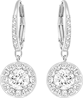 SWAROVSKI Women's Attract Earrings, White, Rhodium plated