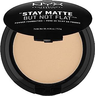 NYX PROFESSIONAL MAKEUP Stay Matte But Not Flat Powder Foundation, Medium Beige