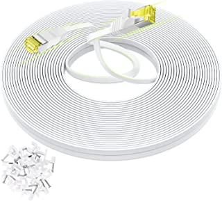 AoforzTech White 75 FT Ethernet Cable,Cat 6 High Speed...