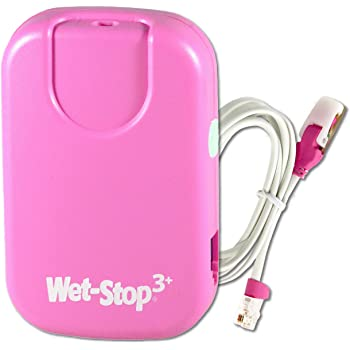Wet-Stop3 Bedwetting (Enuresis) Alarm-Pink with Sound and Vibration