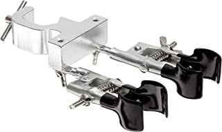 American Educational Double Burette Clamp with Rubber-Coated Rotating Jaws, 3/8