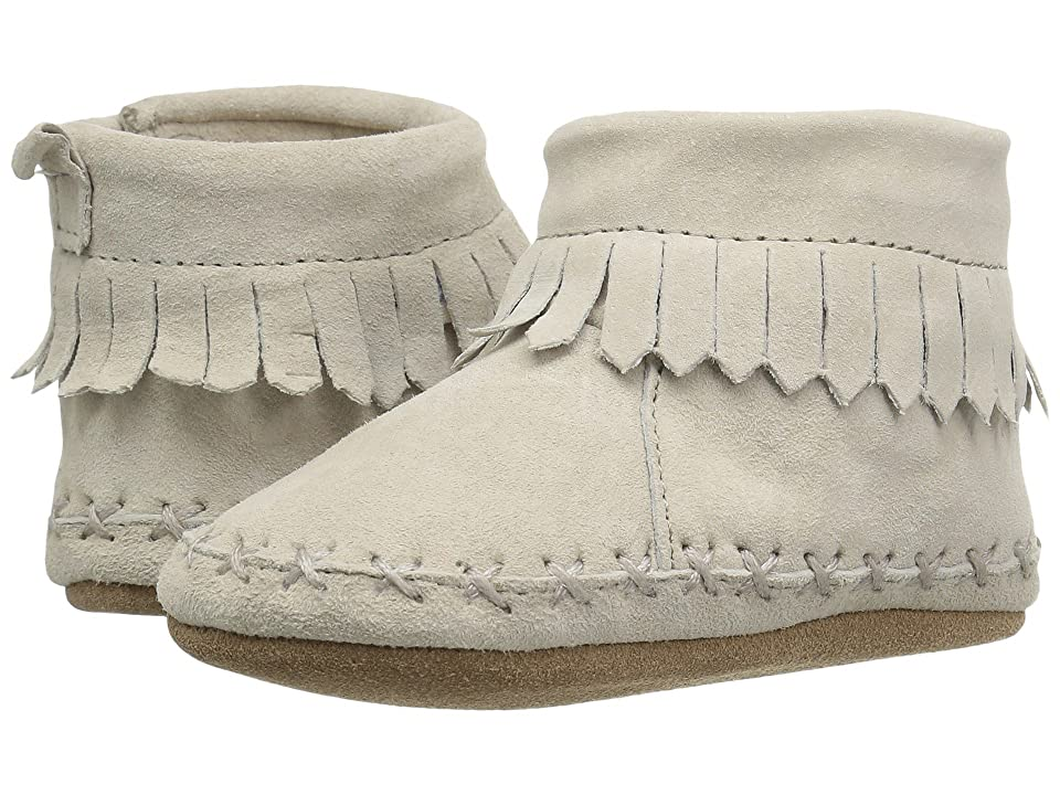 Robeez Cozy Ankle Moccasin Soft Sole (Infant/Toddler) (Grey) Boy