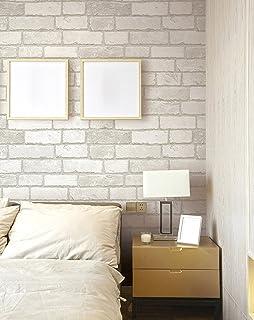 comprar comparacion (Blanco, Paquete de 1) Papel tapiz de mural autoadhesivo clásico con patrón de ladrillo 50cm X 3M (19,6