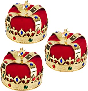 Funny Party Hats Name: Royal Jeweled King`s Crown - Costume Accessory