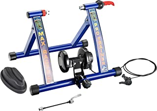 1114 RAD Cycle Products Max Racer PRO 7 Levels of Resistance Portable Bicycle Trainer Work Out Machine, Blue