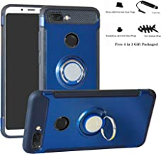 Xiaomi Mi 8 Lite case,Labanema Hybrid Dual Layer 360 Degree Rotation Ring Holder Kickstand Armor Slim Protective Cover for Xiaomi Mi 8 Lite - Dark Blue