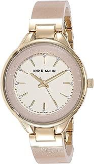Anne Klein - Reloj de pulsera de resina con cristales Swarovski para mujer