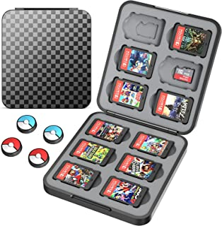 HEYSTOP Game Card Case Compatible with Nintendo Switch Cartridges Holder Carrying Storage Case Box, Portable Thin Hard She...