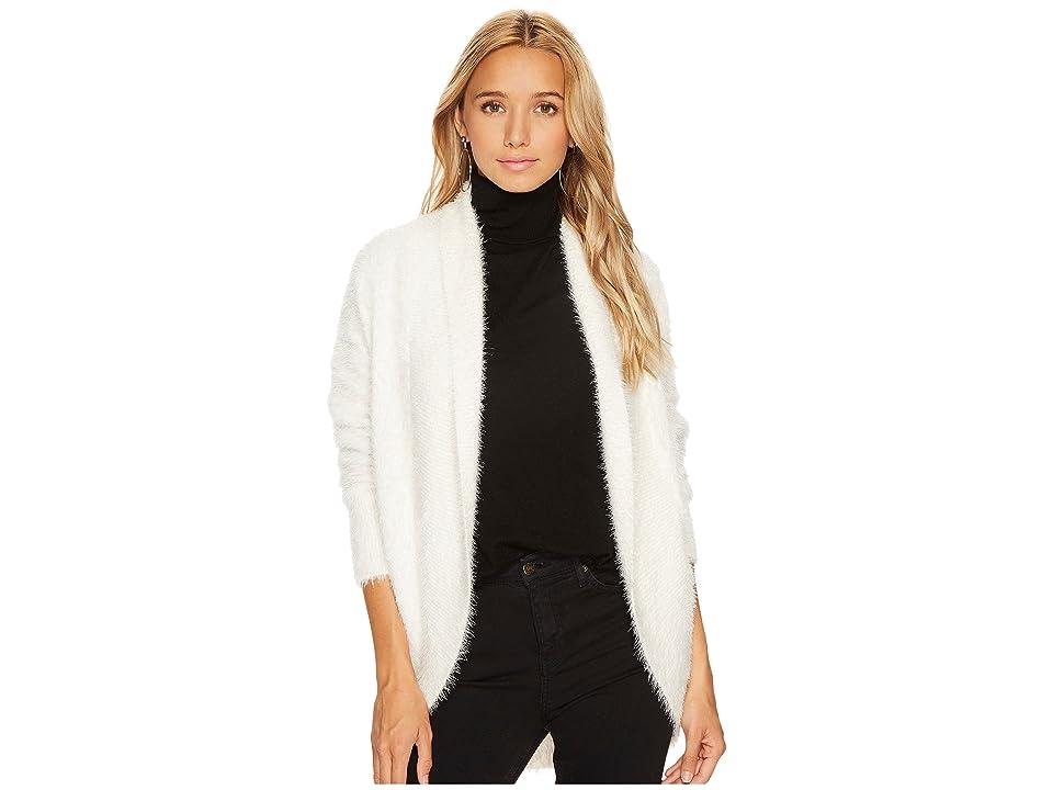 BB Dakota Sheryl Fuzzy Knit Cocoon Sweater (Ivory) Women