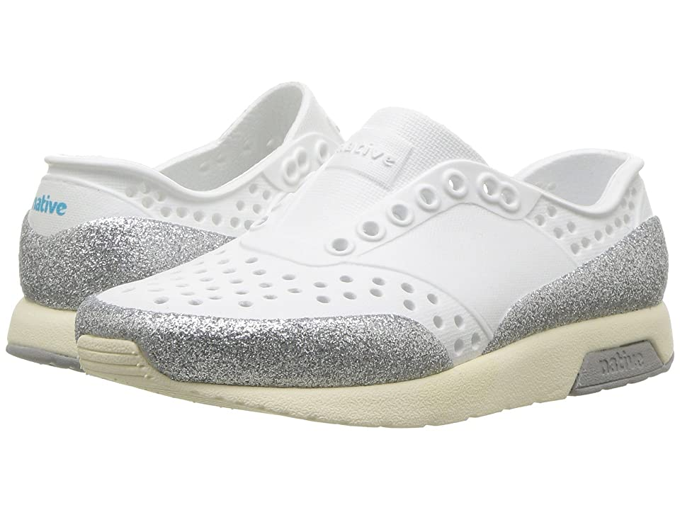 Native Kids Shoes Lennox Glitter (Toddler/Little Kid) (Shell White/Bone White/Pigeon Grey/Glitter) Girls Shoes