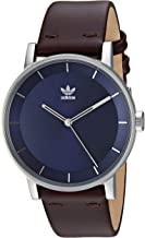 Adidas Watches District_L1. Genuine Leather Strap Watch, 20mm Width (40mm)