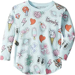 Chaser Kids - Long Sleeve Super Soft Stars & Hearts Tee (Toddler/Little Kids)