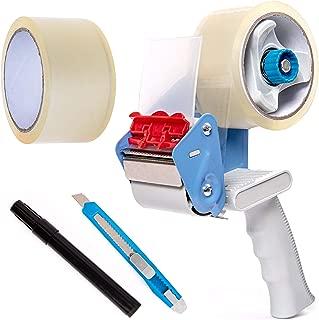 BFO Industries Moving Kit - Tape Gun, 2 Rolls of Industrial Packing Tape, Utility Knife & Marker