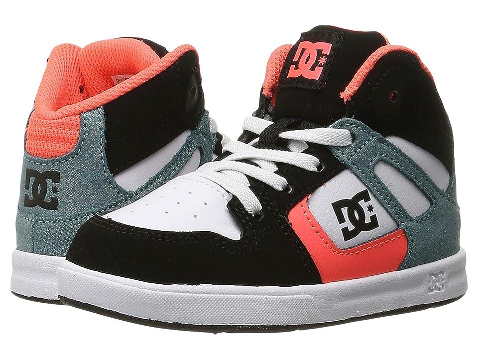 DC Kids Rebound SE UL (Toddler) (Black/Multi/White) Girls Shoes
