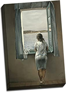 Panther Print Salvador Dali Woman At The Window Canvas Print Poster 30X20 Inches A1 (30 X 20 Inches (76.2 X 50.8Cm)) Multicolour