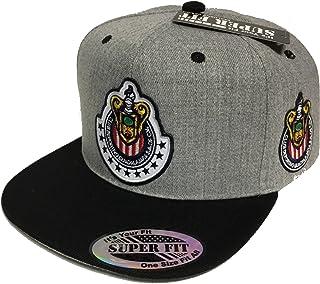 Capsnmore Las Chivas Soccer Hat Heather Grey Black 2 Logos