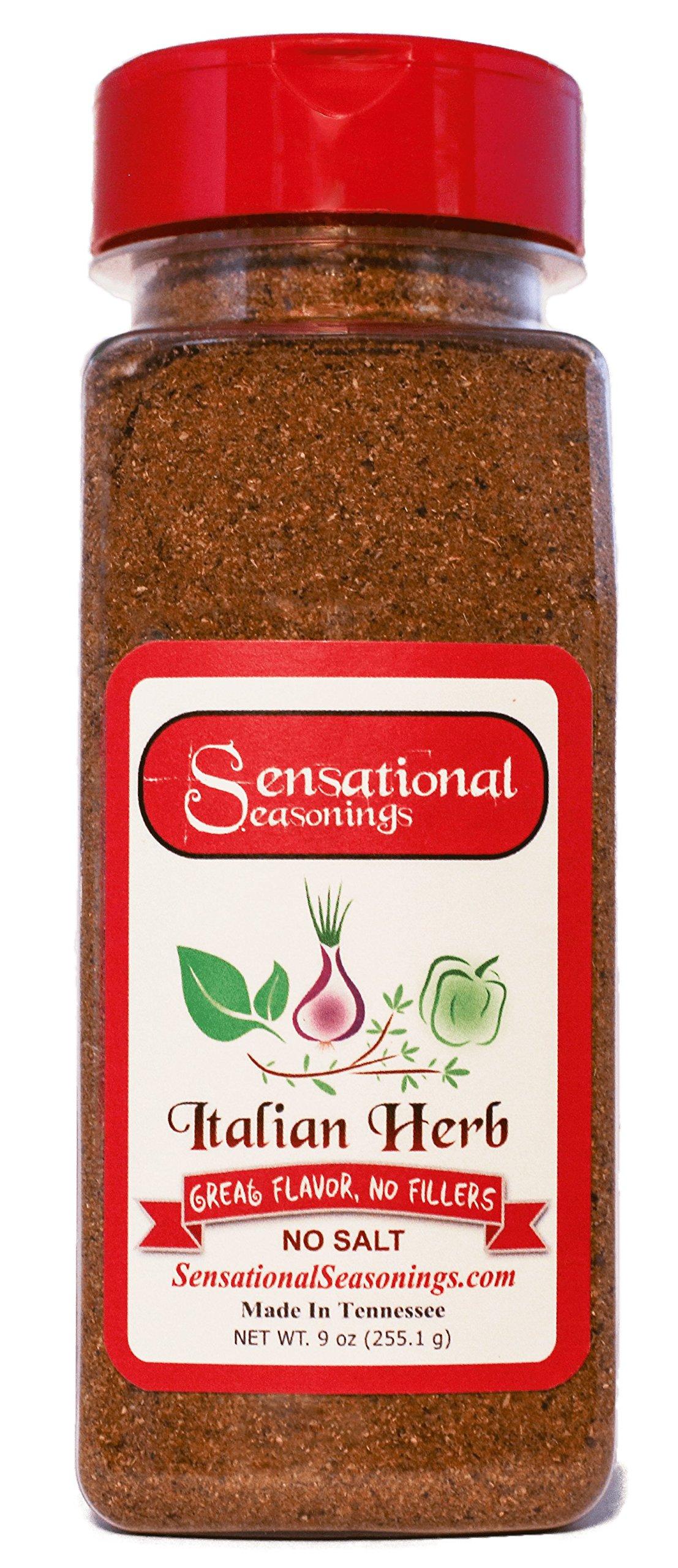 Salt-Free Italian Herb Seasoning, Sensational Seasonings, 9 oz.