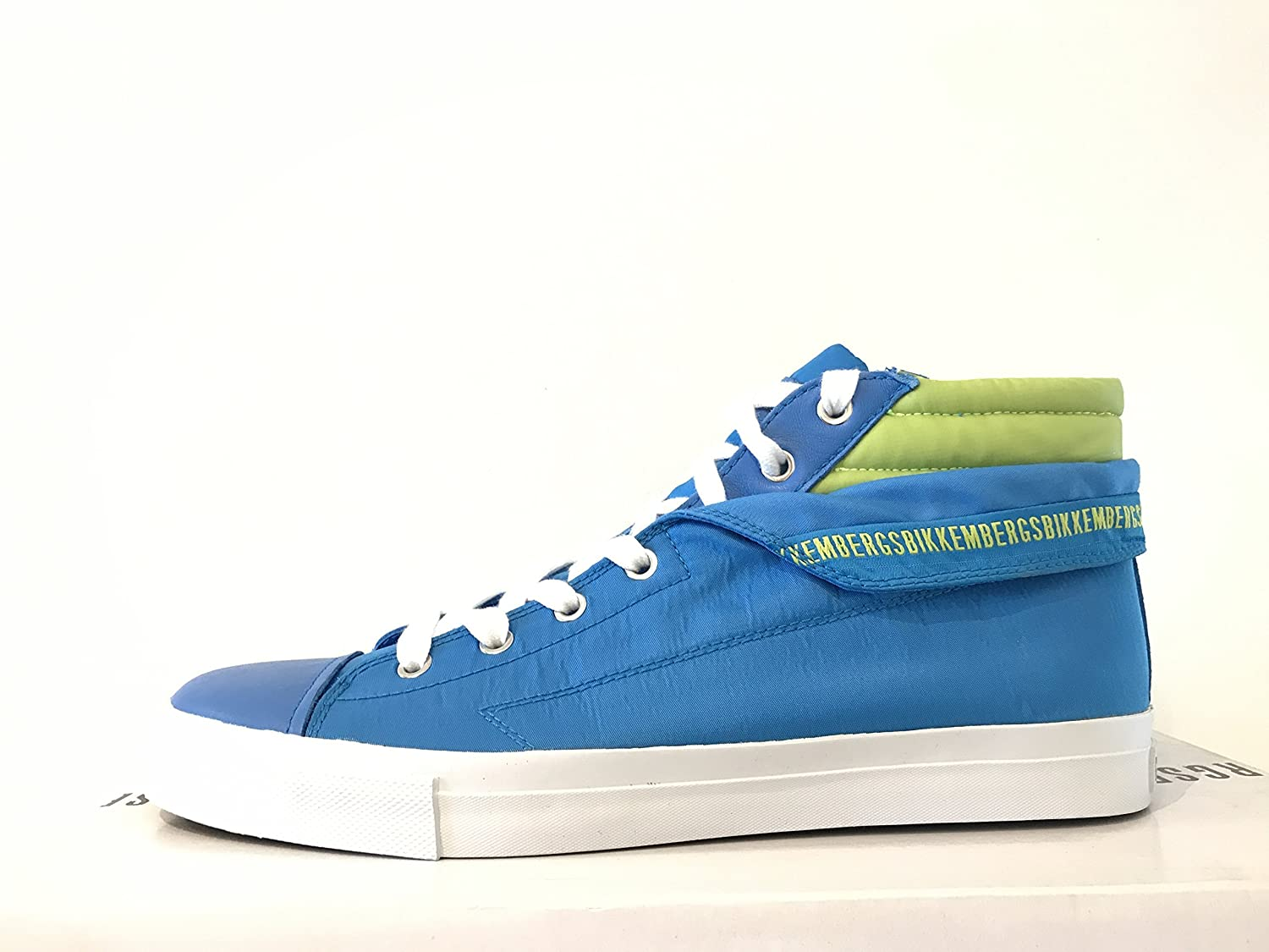 DIRK BIKKEMBERGS Mens shoes Sneakers Mid 647 Fabric blueette Green