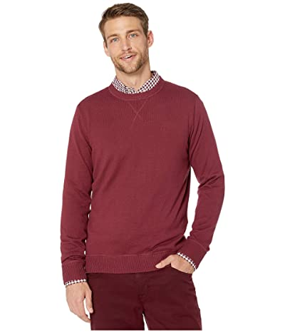 Southern Tide Pacific Highway Crew Neck Sweater (Black Cherry) Men