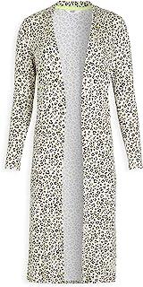 Women's Meow Down Knit Jersey Leopard Duster Cardigan