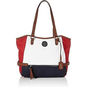Rieker Damen Handtasche H1066, Mehrfarbig (BiancoRosso xRmUr